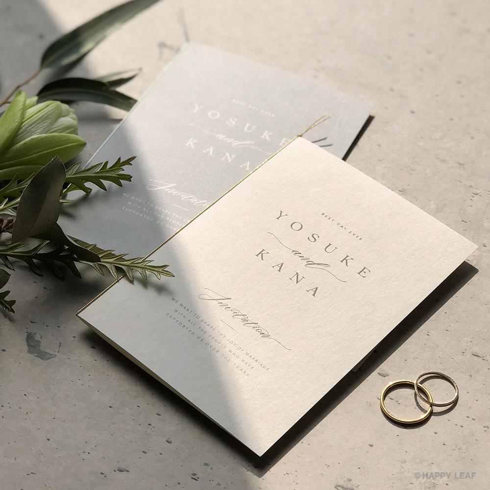 結婚式 招待状 soie ホワイト 1