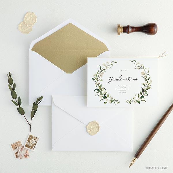 結婚式の招待状をさらにオシャレに☆ 封筒を華やかに彩る かざり紙4種&シーリングシール3種リリース!