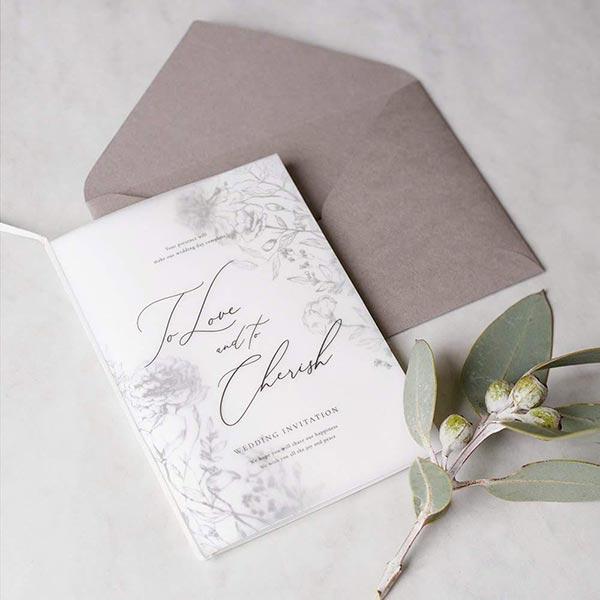 『シンプル × モノトーン』がスタイリッシュな大人婚にふさわしい 新作招待状3種リリース!