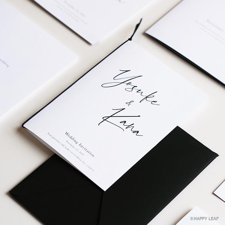 結婚式 招待状 Noir イメージ