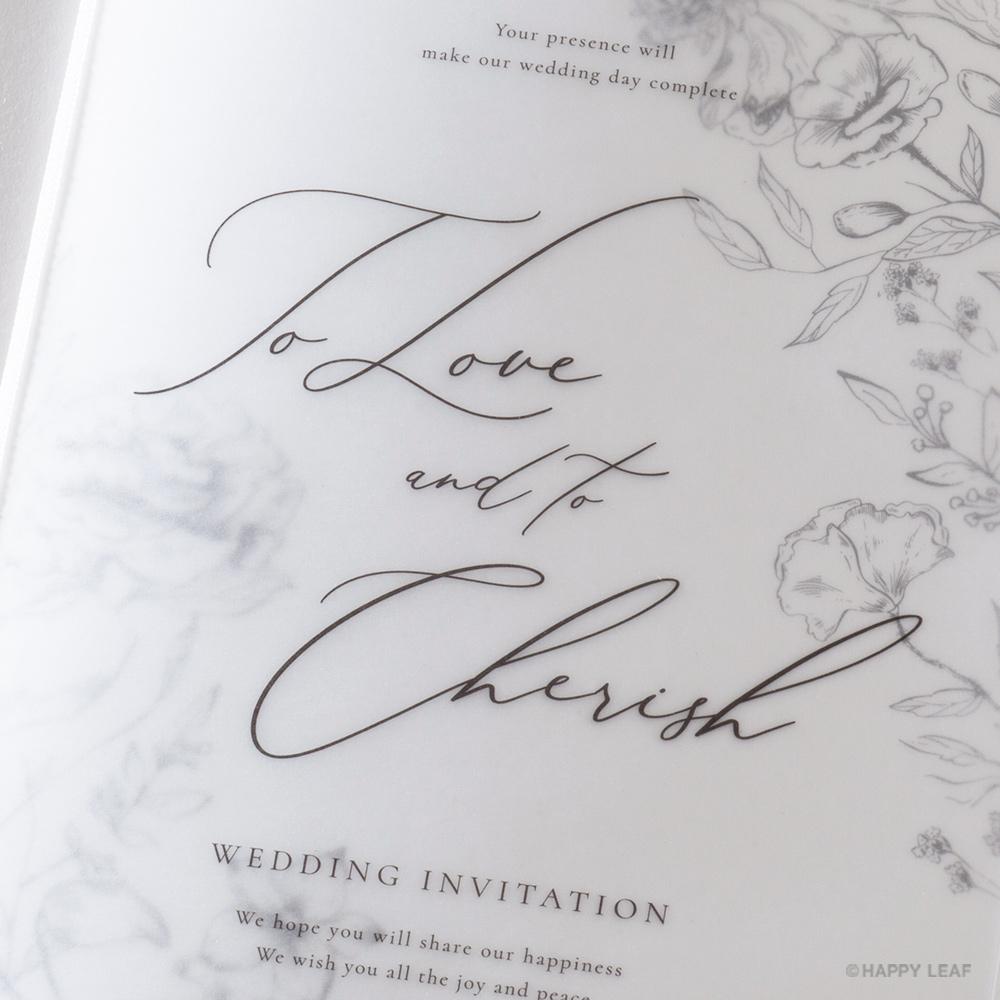 結婚式 招待状 aria ホワイト 3