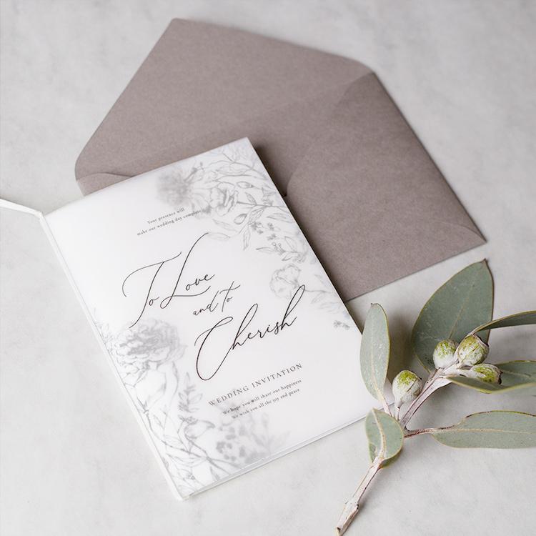結婚式 招待状 aria ホワイト イメージ