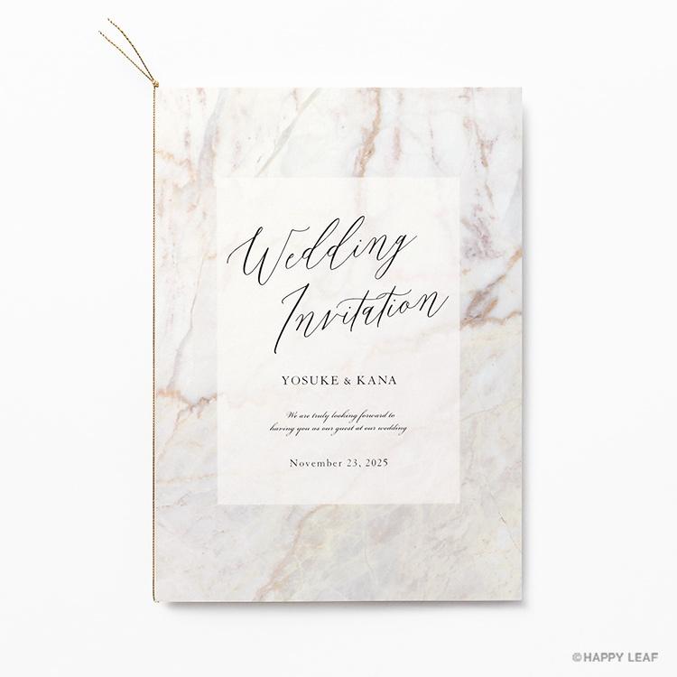 結婚式 招待状 MARBLE Mocha