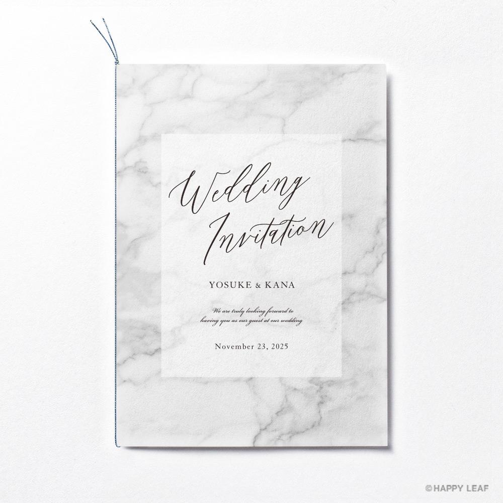 結婚式 招待状 MARBLE Gray 1