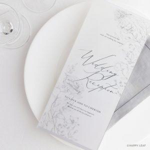 席次表 aria ホワイト -tracing paper-
