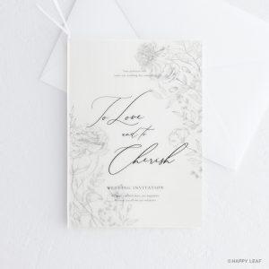 結婚式 招待状 aria ホワイト