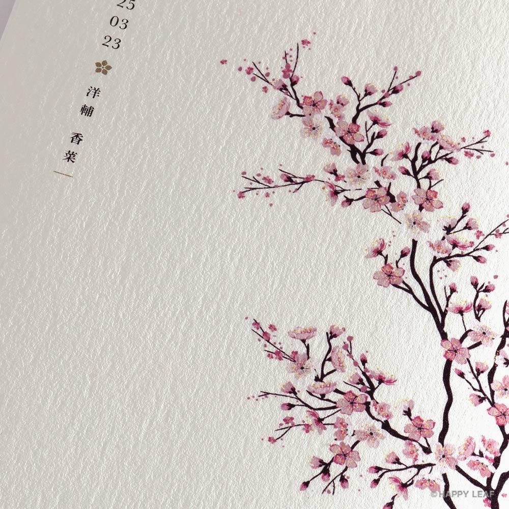 結婚式 招待状 sakura 2