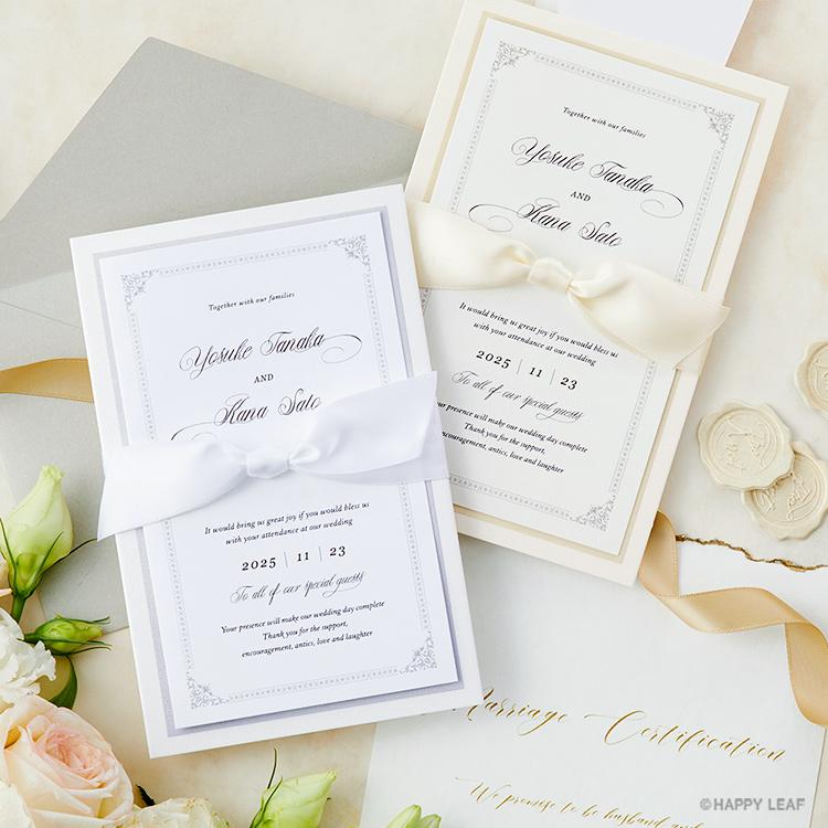 結婚式 招待状 Chateau プラチナ イメージ