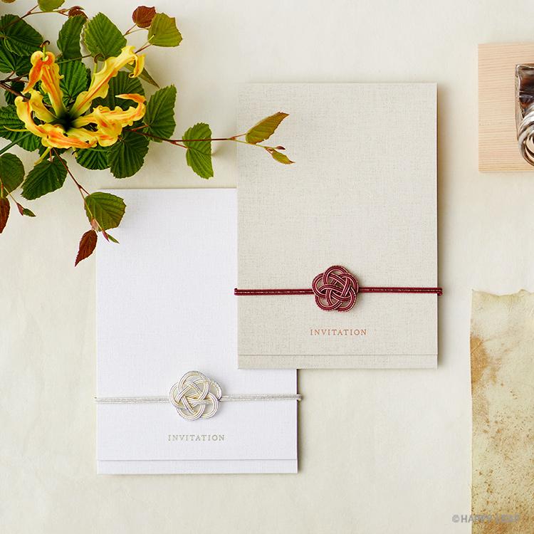 結婚式 招待状 musubi 紅 イメージ