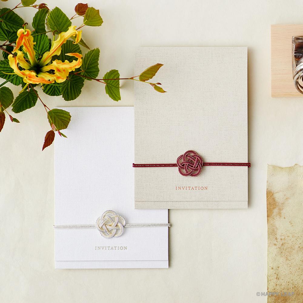 結婚式 招待状 musubi 紅 1