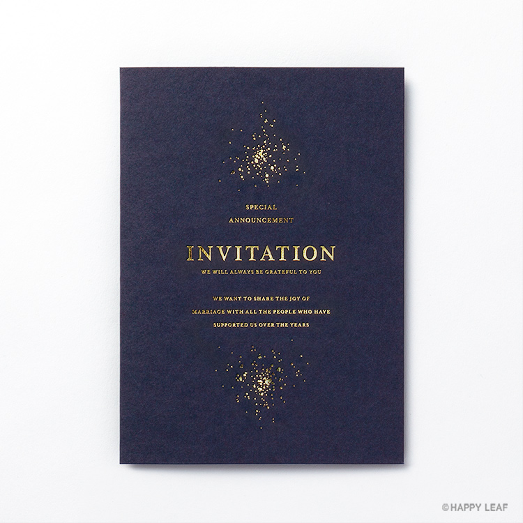 結婚式 招待状 Glanz ネイビー 1