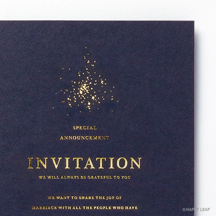 結婚式 招待状 Glanz ネイビー イメージ