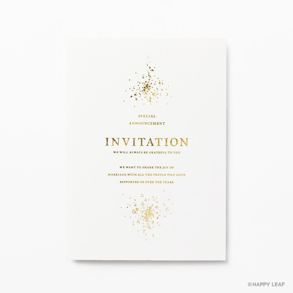 結婚式 招待状 Glanz ホワイト 2