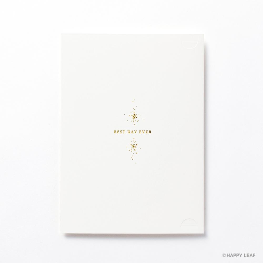 結婚式 招待状 Glanz ホワイト 4