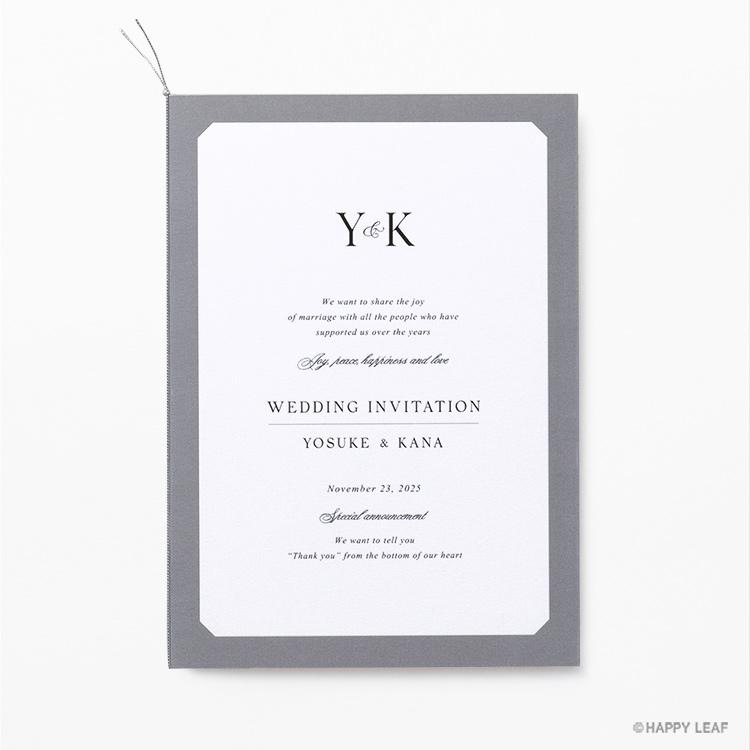 結婚式 招待状 Sylph グレー
