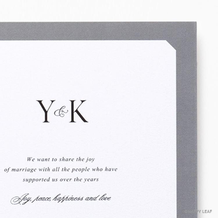 結婚式 招待状 Sylph グレー イメージ