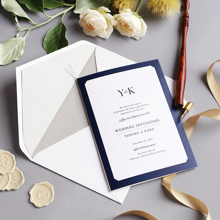 結婚式 招待状 Sylph ネイビー イメージ