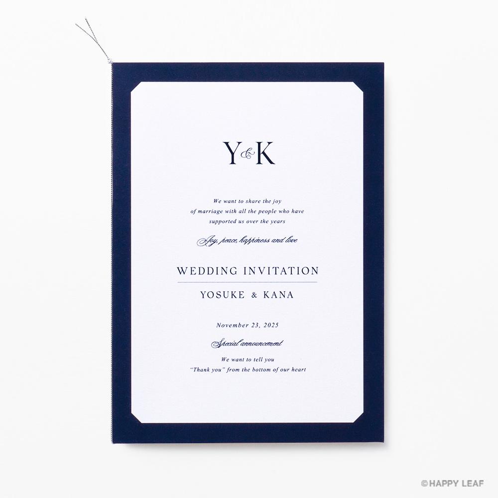 結婚式 招待状 Sylph ネイビー 2