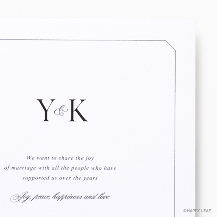 結婚式 招待状 Sylph ホワイト イメージ