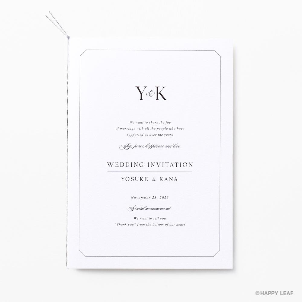 結婚式 招待状 Sylph ホワイト 1