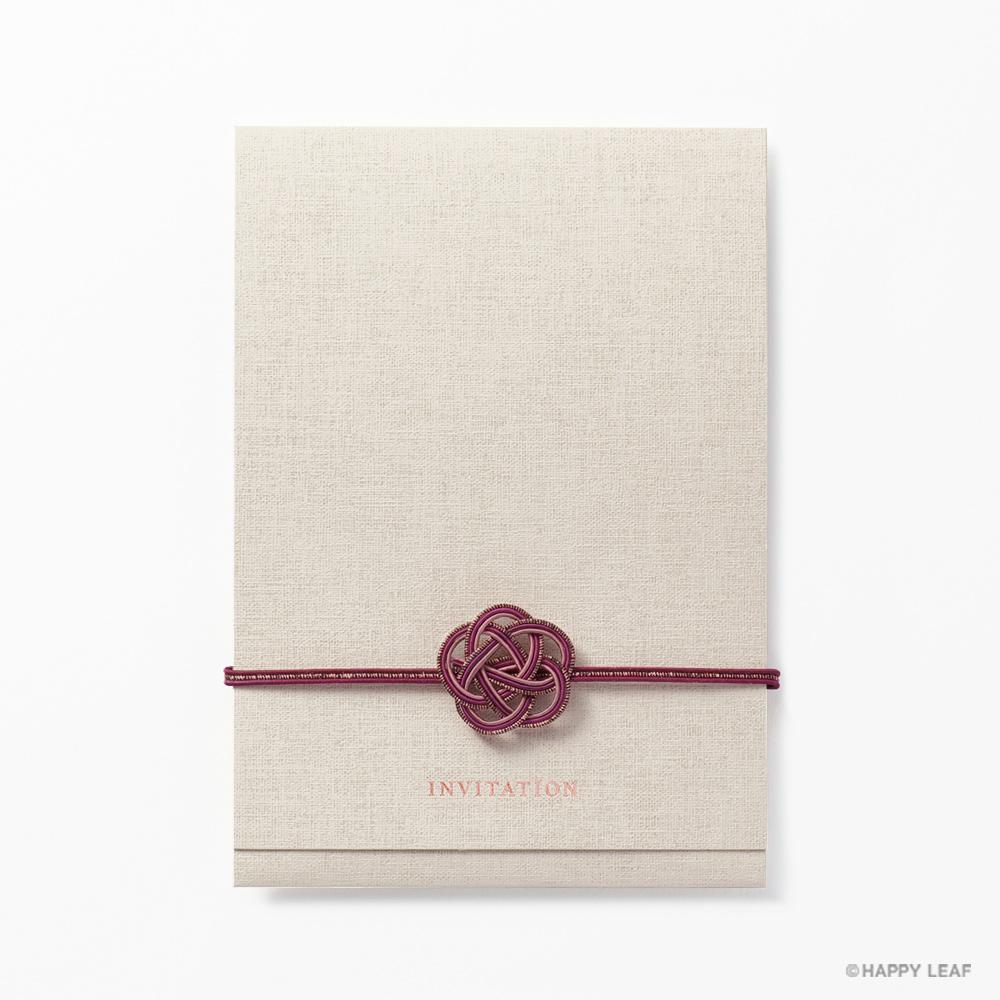 結婚式 招待状 musubi 紅 2