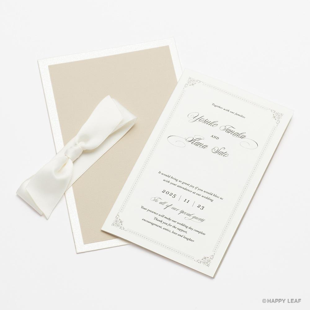 結婚式 招待状 Chateau パール 7