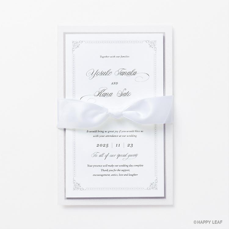 結婚式 招待状 Chateau プラチナ