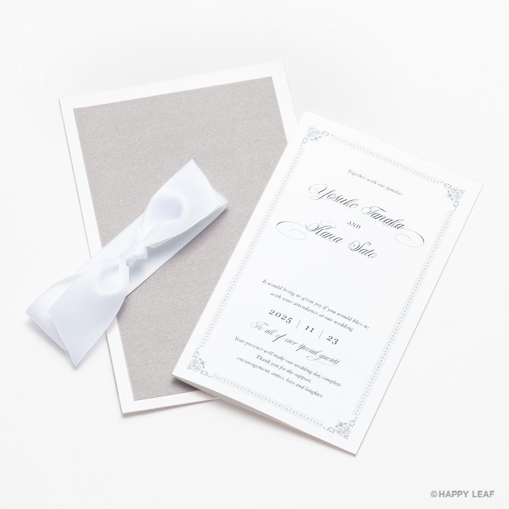 結婚式 招待状 Chateau プラチナ 7