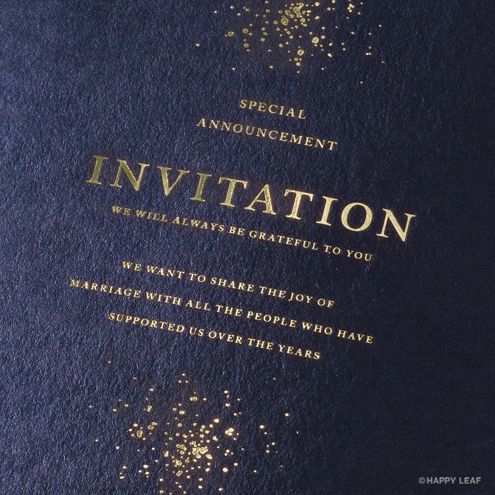 結婚式 招待状 Glanz ネイビー 2