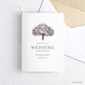結婚式 招待状 シンボルツリー ホワイト