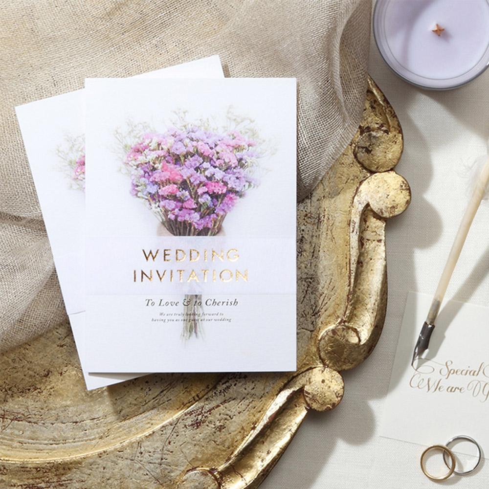結婚式 招待状 スターチス 1