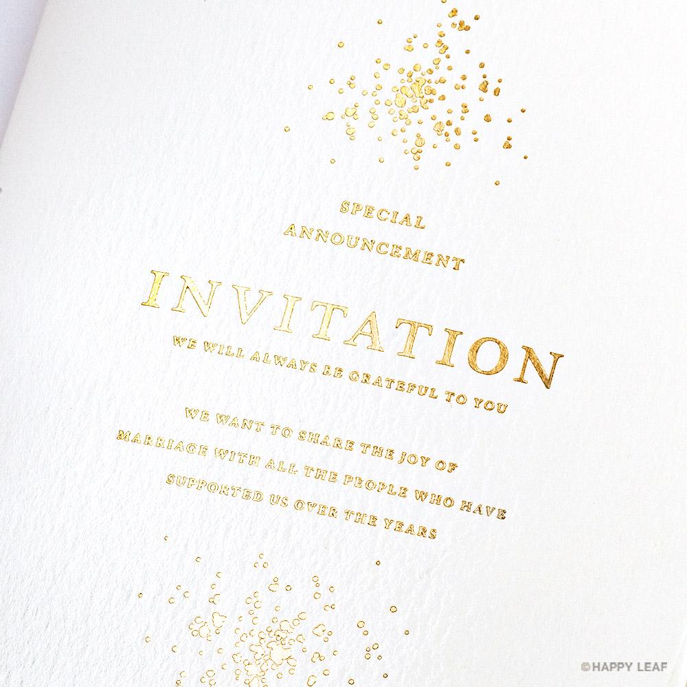 結婚式 招待状 Glanz ホワイト 3