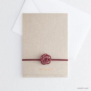 結婚式 招待状 musubi 紅