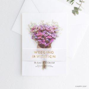 結婚式 招待状 スターチス