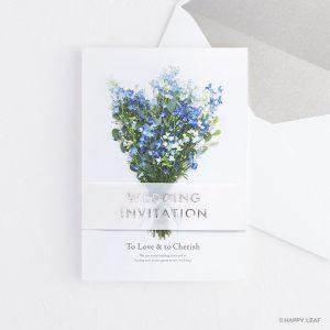結婚式 招待状 デルフィニウム