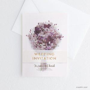 結婚式 招待状 スモークツリー