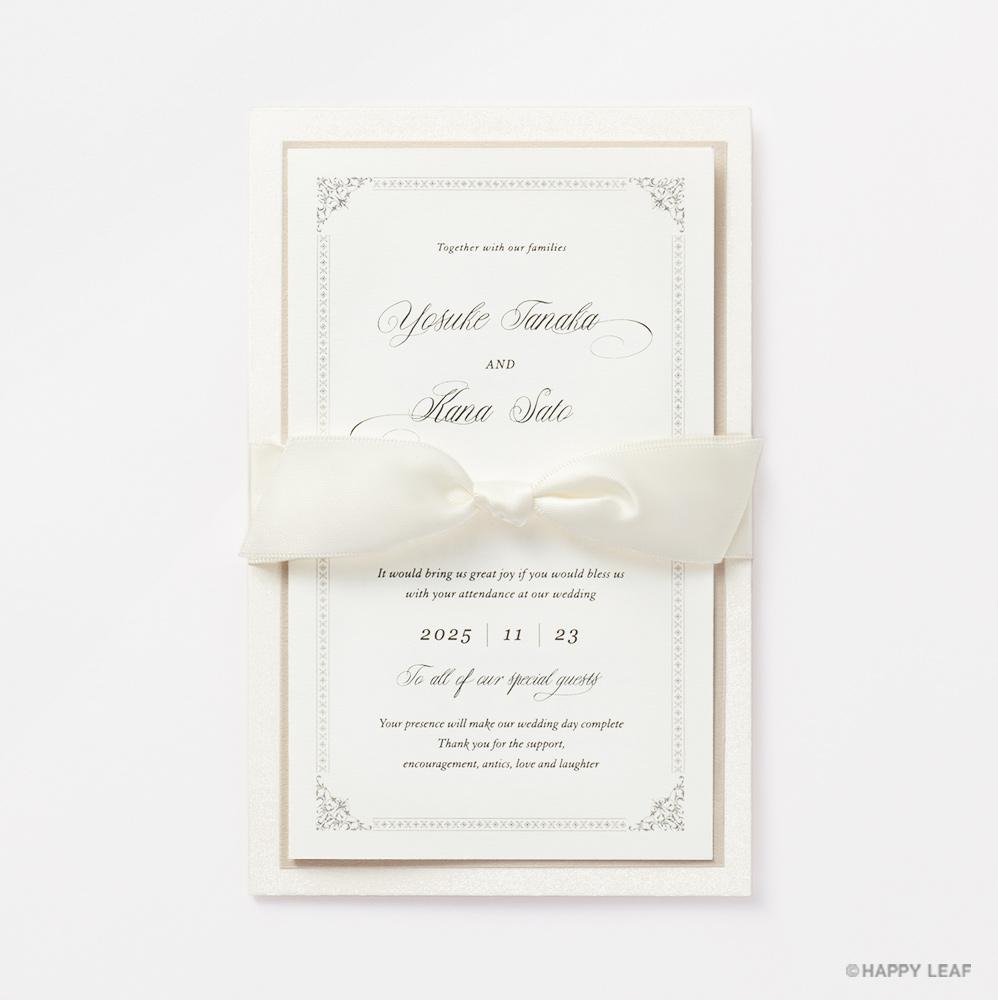 結婚式 招待状 Chateau パール 2