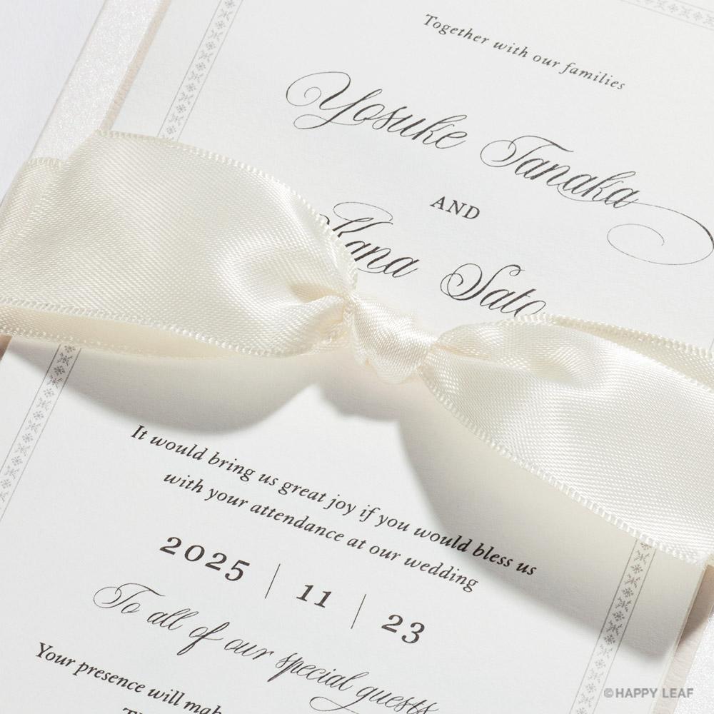 結婚式 招待状 Chateau パール 3