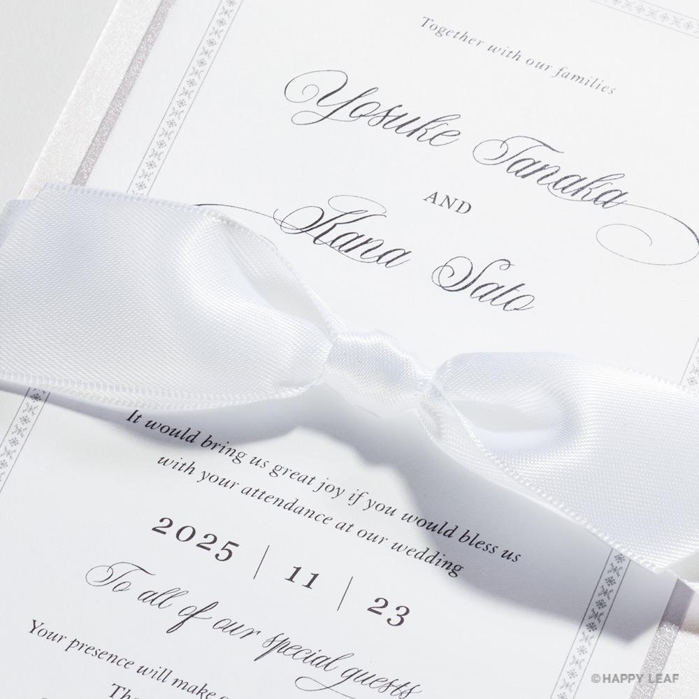 結婚式 招待状 Chateau プラチナ 3