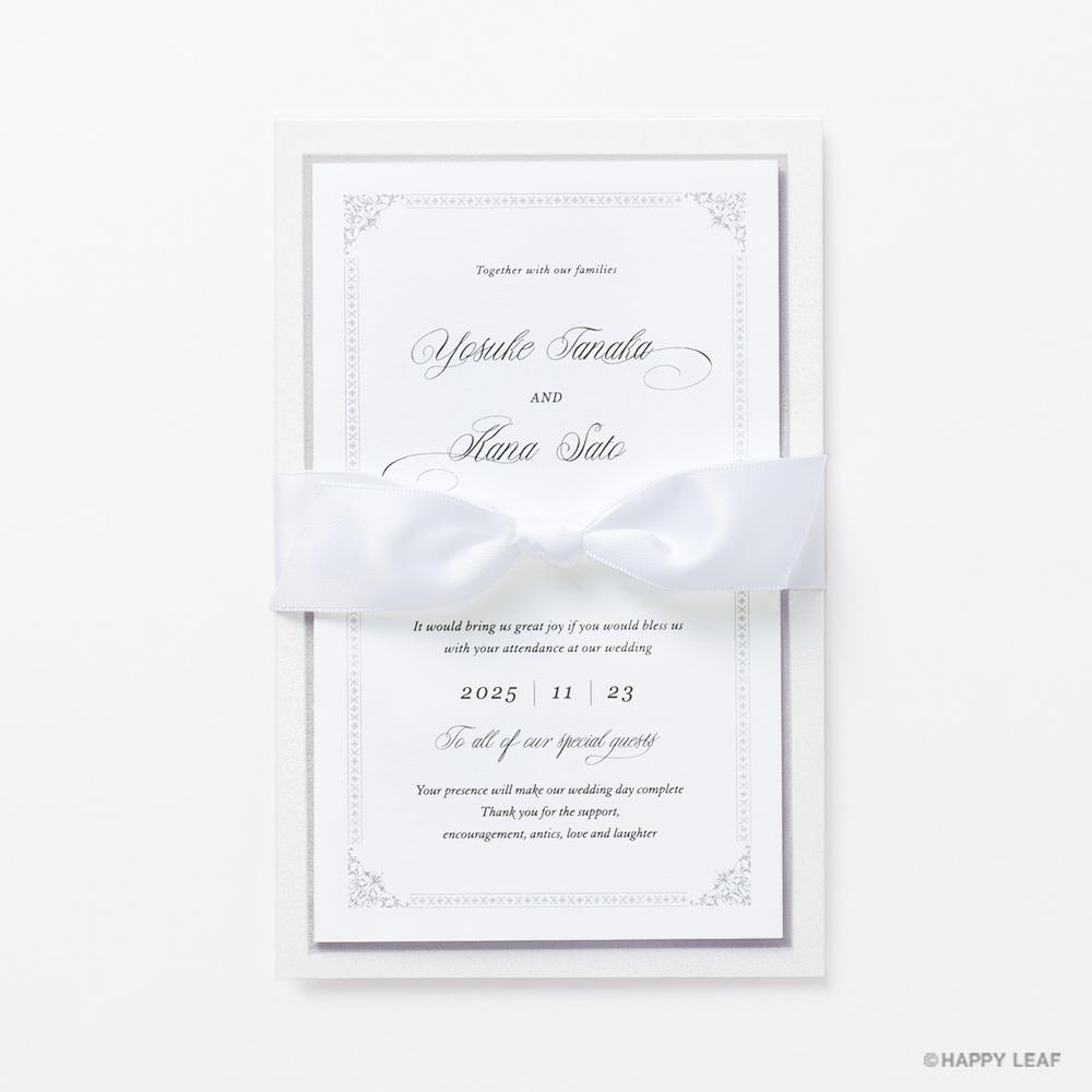 結婚式 招待状 Chateau プラチナ 2