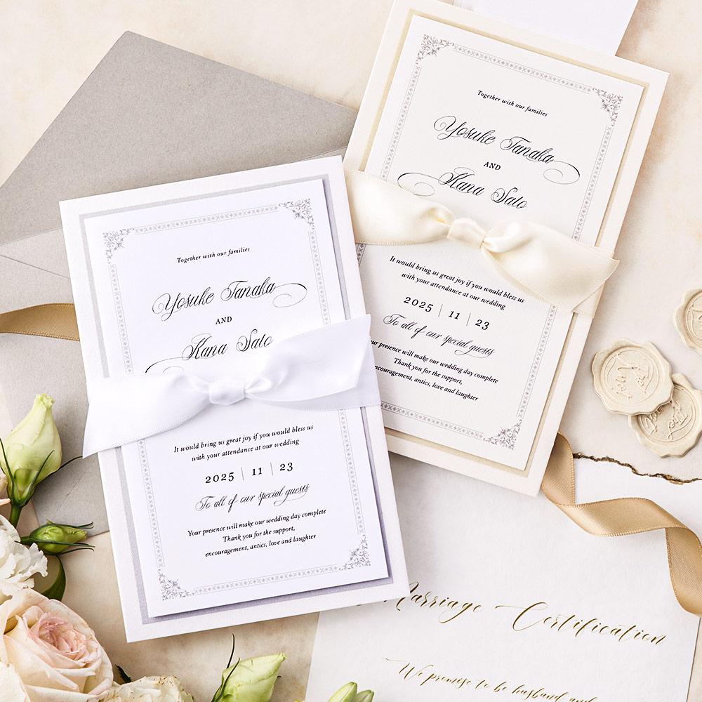 結婚式 招待状 Chateau プラチナ 1