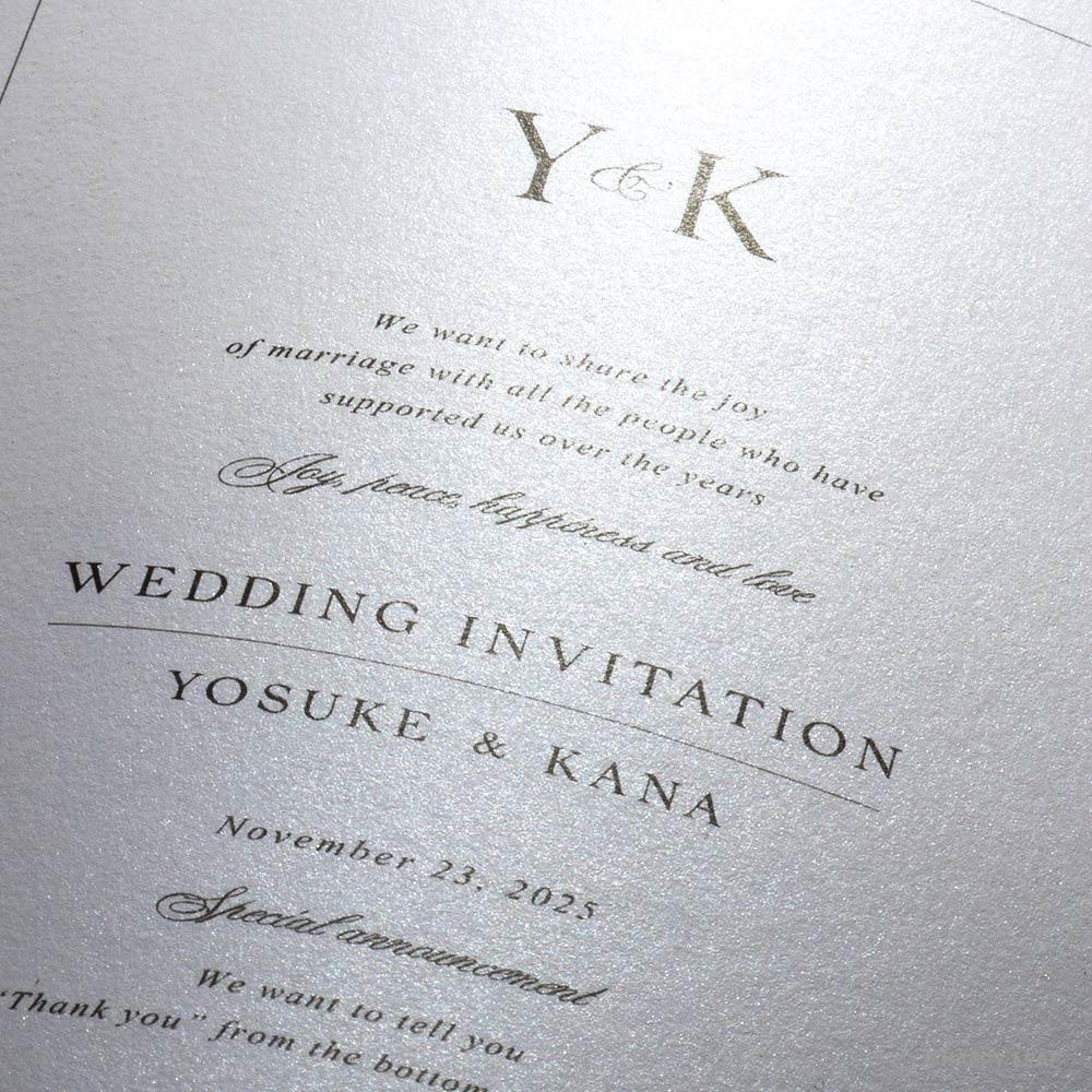 結婚式 招待状 Sylph ホワイト 2