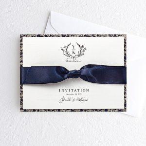 結婚式 招待状 Jardin ネイビー