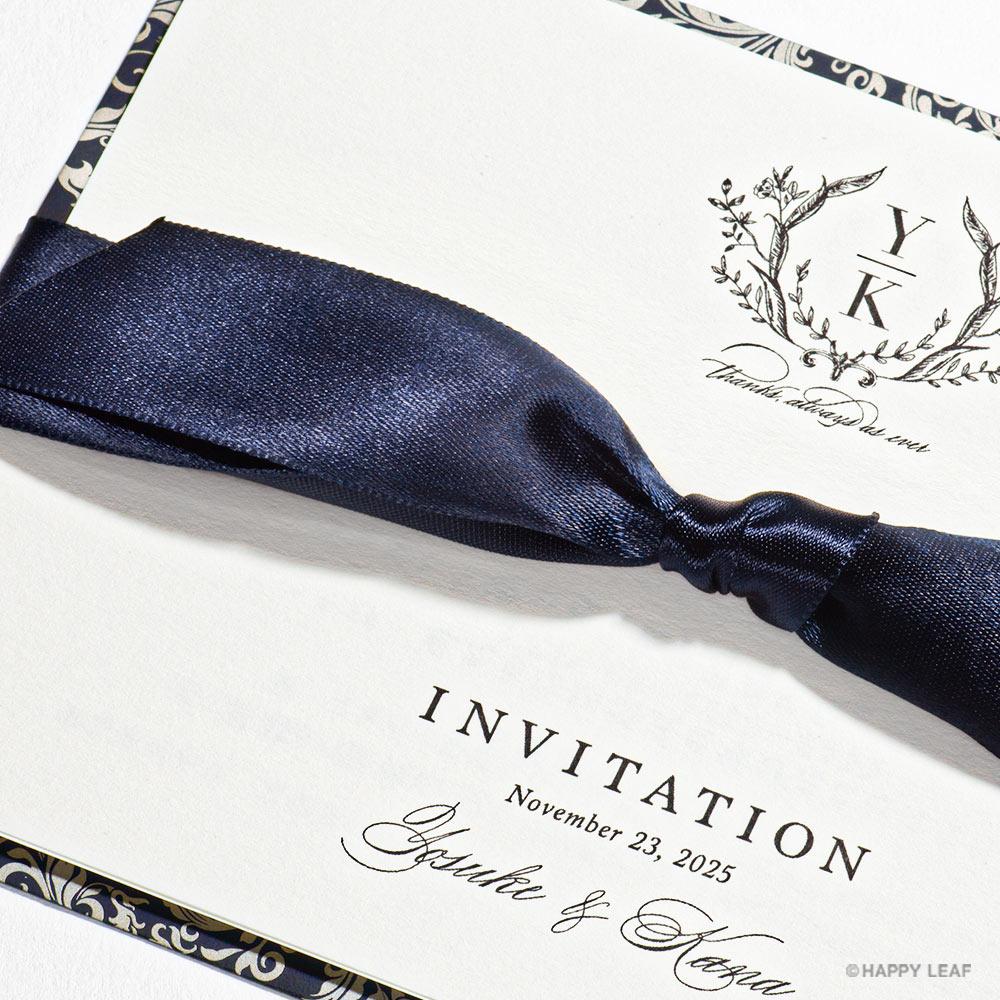 結婚式 招待状 Jardin ネイビー 2