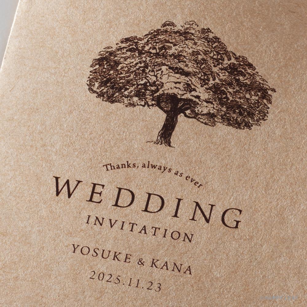 結婚式 招待状 シンボルツリー クラフト 3