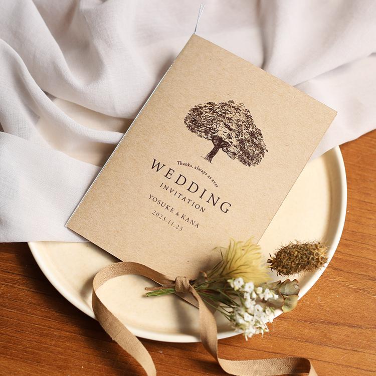 結婚式 招待状 シンボルツリー クラフト 1