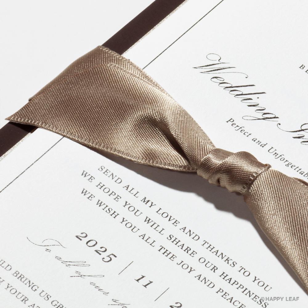 結婚式 招待状 Manoir ブラウン 2