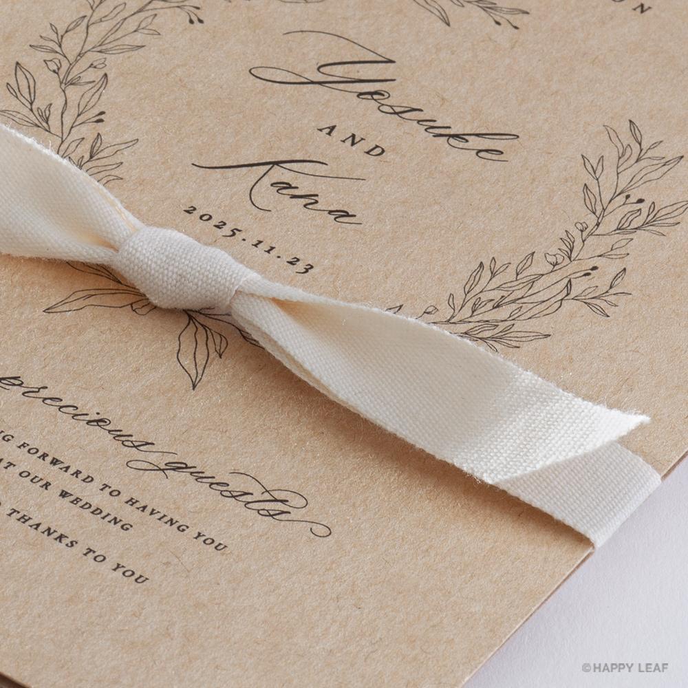 結婚式 招待状 cotone リボン 3