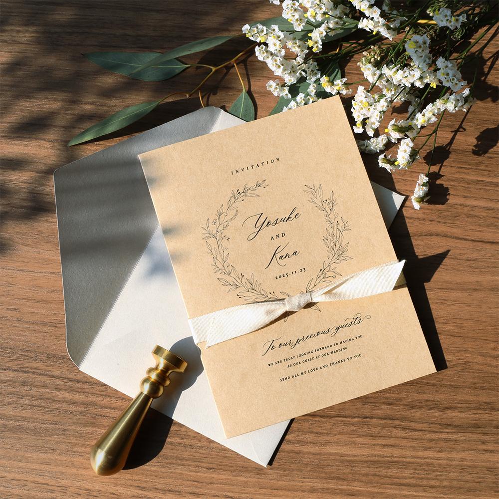 結婚式 招待状 cotone リボン 1