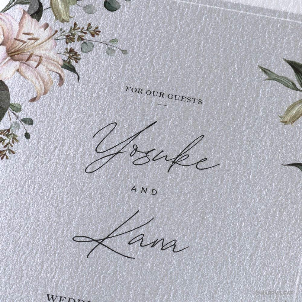 結婚式 招待状 grisvert グレー 2